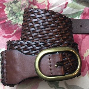 "LOFT size 31-34"" waist Woven BROWN & BRASS $49 new"